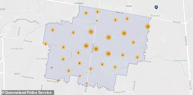 This map shows the number of offences committed throughout Zillmere from June 2020 to September 2020