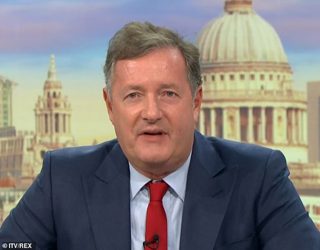 Defence: Piers Morgan furiously spoke out in Diversity's defence on Monday morning, amid the fallout over the dance troupe's Black Lives Matter routine