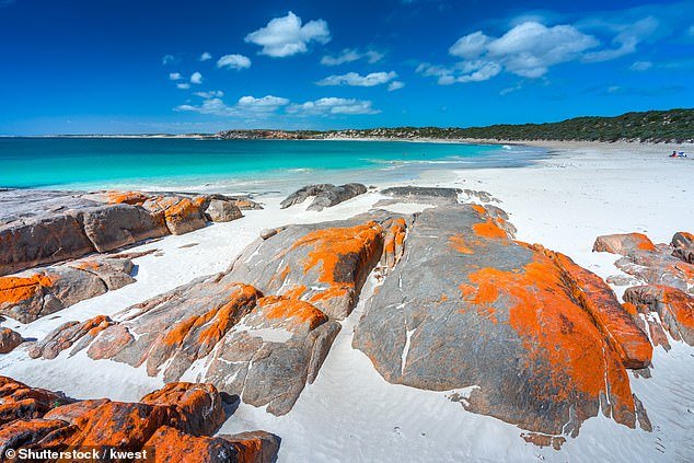 Mr Marshall said he is eager to open the border but it the decision will depend on the latest health advice. Pictured: Dolphin Bay on the Yorke Peninsula, South Australia