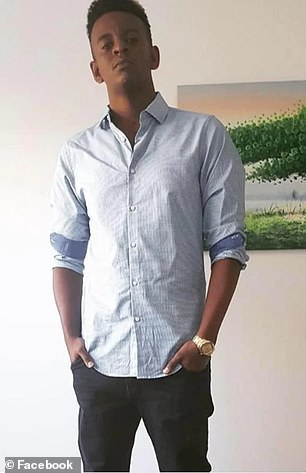 Girum Mekonnen (pictured), 19, died at the scene of the melee
