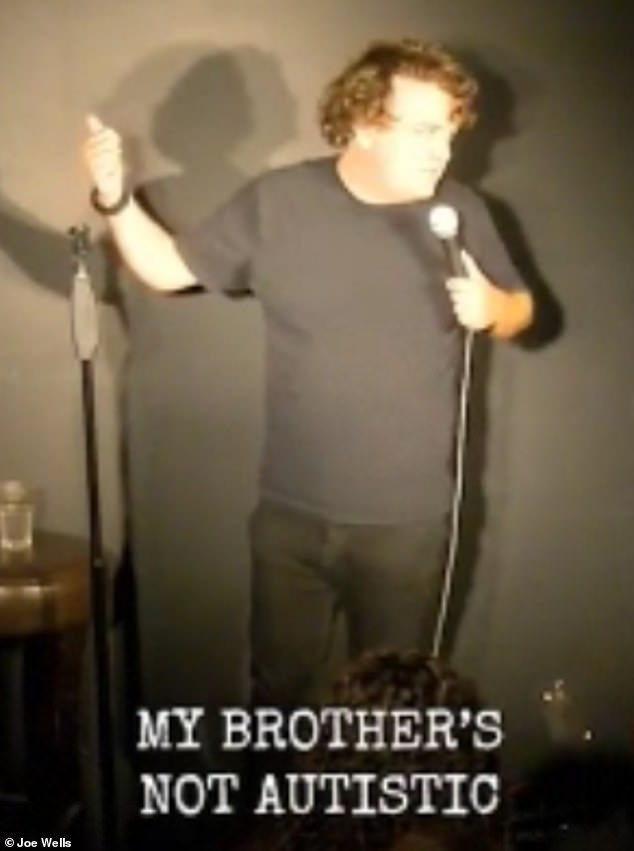 He made jokes about his brother and spoke about all the traits of his 'severely not autistic' sibling