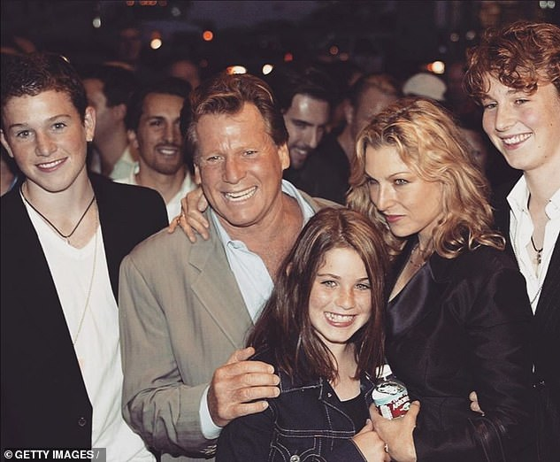The way they were: Actor Ryan and Tatum are pictured with the actress' children in 2003