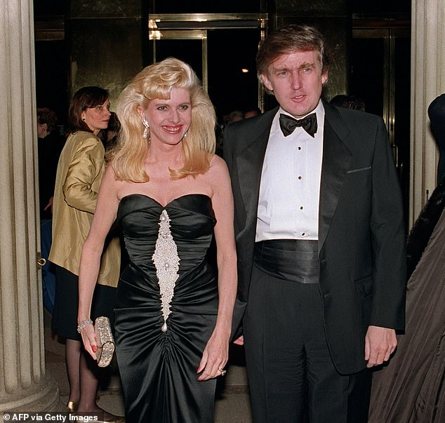 Donald Trump's ex-wife Ivana, pictured with her former husband in New York in 1989, has been branded a 'bigoted embarrassment' for her 'disturbing' comments on US immigration today