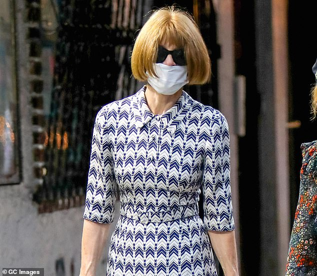 Martina is called Sweden's Anna Wintour in Stockholm and it is a description she encourages. Pictured: Wintour on an outing in New York last month