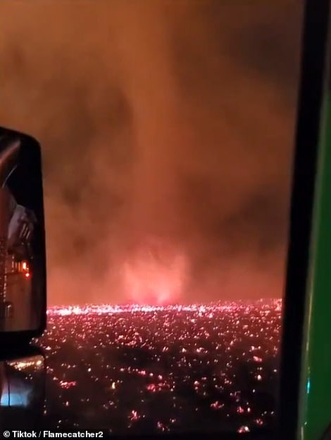 The National Weather Service issued a red flag warning for Northern California through Monday night, saying strong southerly winds and low humidity will result in elevated fire weather conditions across the region