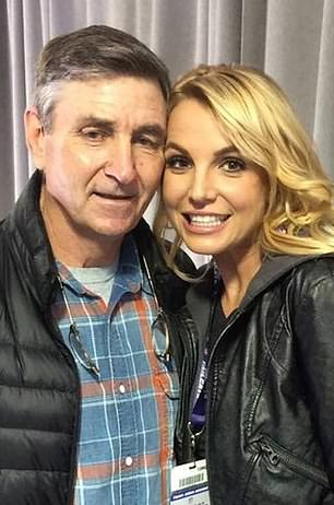 Britney Spears pictured with her father Jamie Spears