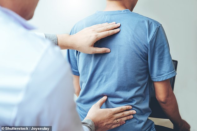 Dr Durtnall advises against posture correctors. If you want to improve your posture, you need to see a skilled chiropractor for assessment of musculoskeletal imbalances (stock picture)
