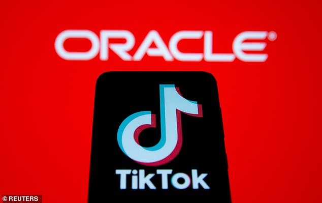 Oracle shares surged 10 percent in premarket trading on Monday after sources confirmed that TikTok's parent company ByteDance accepted its bid to take over the app in the US (file photo)