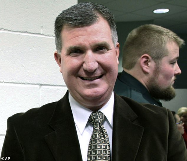 Pastor Todd Bell (pictured) has continued to hold in-person services at Calvary Baptist Church in Sanford, Maine, even after he officiated a wedding that was linked to cases
