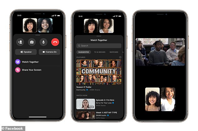 You can watch videos with up to eight people on a Messenger video call or up to 50 people in a Messenger Room. Watch Together is rolling out globally this week on iOS and Android mobile devices