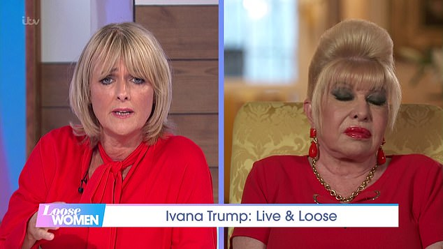 Prompting outrage:Czech-born Ivana, who is a legal immigrant to the U.S., also generalized to the hosts that undocumented immigrants may rape women or not dress 'Americanly