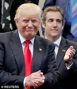 Trump and Cohen pictured together in 2016