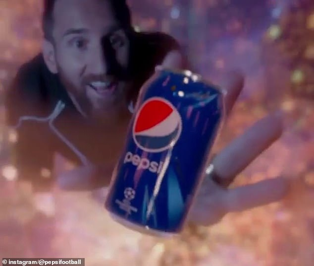 Messi has also appeared in various adverts, including for Pepsi - he's set to earn £98m this year