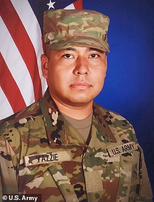 Army Specialist Miguel Yazzie, 33 (pictured), died on July 2 and Private Carlton Chee, 25, died September 2, making them the 27th and 28th deaths at Texas' Fort Hood