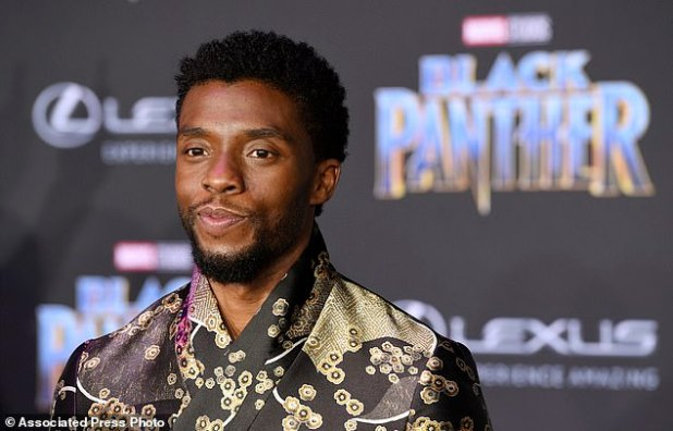Tragic: According to a death certificate issued on Monday, Chadwick Boseman was buried near his South Carolina hometown, six days after he died at his home in Los Angeles.
