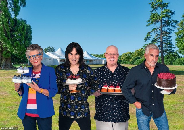 Fantastic four:This year's edition will see Matt Lucas make his debut as he replaces Sandi Toksvig to host alongside comedian Noel Fielding and judges Paul Hollywood and Prue Leith