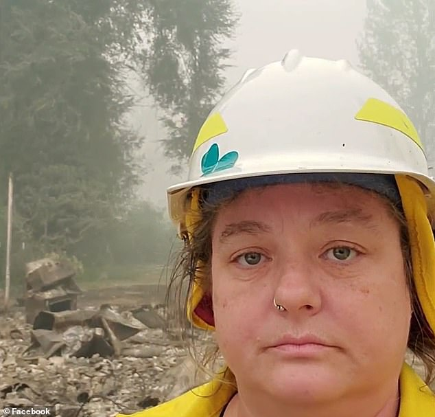 Upper McKenzie Rural Fire Chief Christiana Rainbow Plews (pictured) and several of her colleagues in Oregon lost their homes in the Holiday Farm Fire