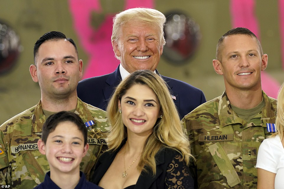 Courage:Chief Warrant Officer Two Irvin Hernandez and Chief Warrant Officer Two Brady Hlebain were among those honored by the president