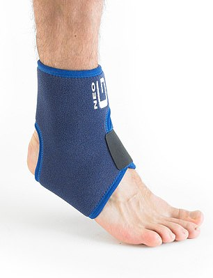 BRACE TO SUPPORT SPRAINED ANKLES: Neo G, £15.99, neo-g.co.uk