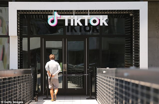 Mnuchin told MSNBC on Monday: 'There's also a commitment to create TikTok Global as a US-headquartered company with 20,000 new jobs.' Pictured: The TikTok office in Culver City, California