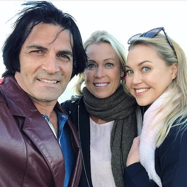 Condolences: Lisa's husband, Elvis Presley impersonator Mark Tabone (left), also addressed the tragedy in an Instagram post on Tuesday. Pictured with Lisa andJaimi