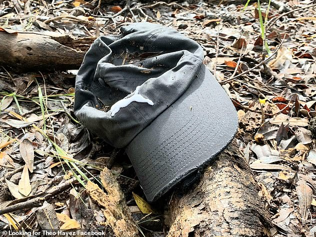 Search efforts for the 19-year-old continued well into 2020, with police conducting DNA tests on hair found in what is believed to be Theo's grey cap (pictured), which was discovered in bushland off Tallows Beach