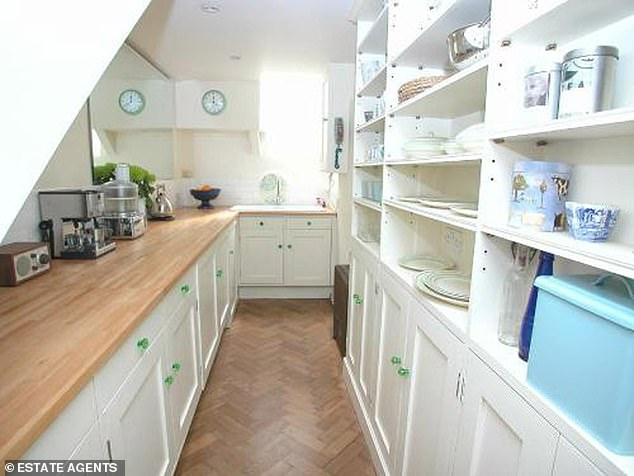 The slender home in Shepherd's Bush, has soared in value since it was last sold in 2009 for £595,000 to a lawyer who is now moving abroad