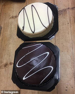 The $4.80 cakes are available in a range of flavours including chocolate, white chocolate and caramel