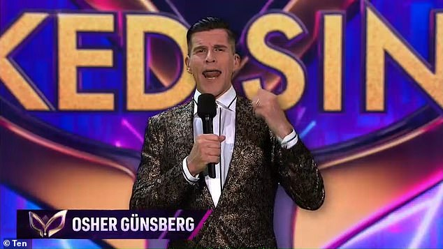 So impressive! Network 10 executive producer Stephen Tate previously told Mediaweek that the finale was a 'technical feat.' Osher is pictured during the finale