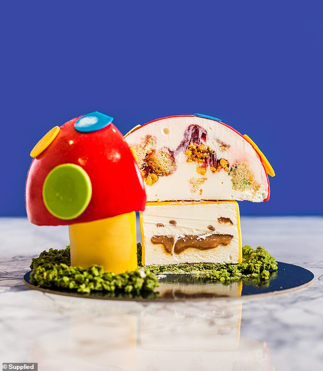 For the first time the dessert brand has made the cake entirely with ice cream instead of a gelato and chocolate sponge (pictured)