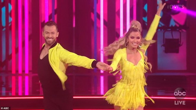 Bachelorette star: Kaitlyn Bristowe, 35, performed a cha-cha with pro partner Artem Chigvintsev, 38, who returned to the show after not appearing on season 28