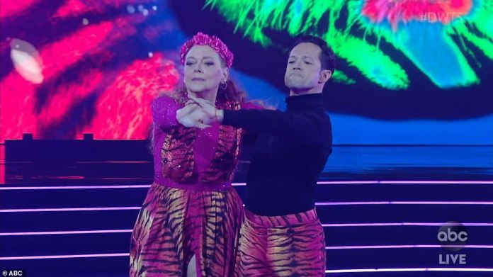 Season premiere: Carole Baskin performed Eye Of The Tiger on Monday with pro partner Pasha Pashkov during the season 29 premiere of Dancing With The Stars on ABC