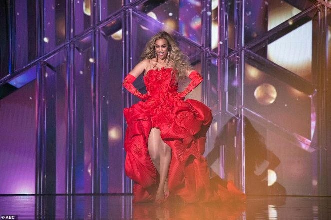 New host: Tyra Banks, 46, made a stunning debut as new judge after replacing co-hosts Erin Andrews, 42, and Tom Bergeron, 65, who announced their departures in July