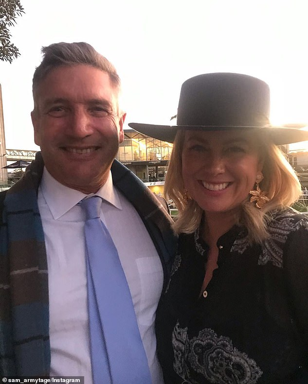 Wedding bells on hold: It comes after Samantha recently told The Daily Telegraph that her wedding to businessman Richard Lavender (left) was being pushed back to 2021