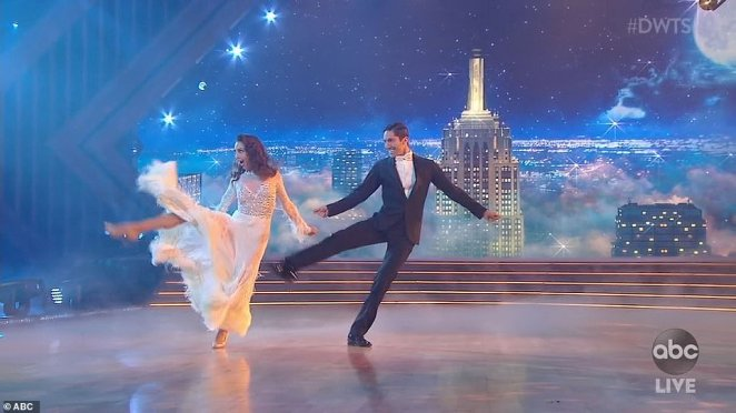 Smooth moves:Catfish host Nev Schulman, 35, danced a foxtrot with Jenna Johnson that the judges raved about before awarding them a score of 20 points