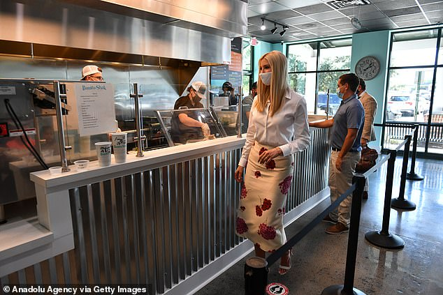 The president's daughter also visited a bakery during the time she was in the city