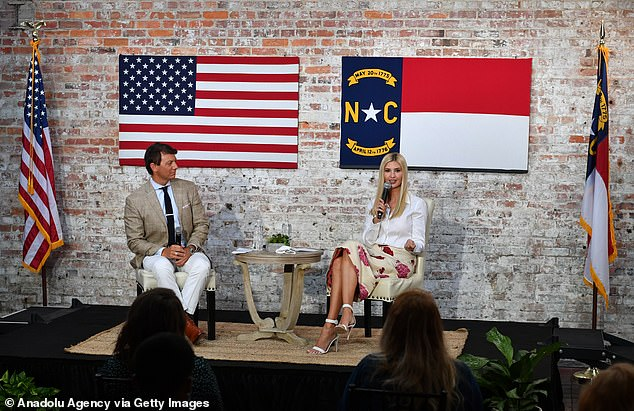 The discussion was moderated by Trump 2020 National Press Secretary Hogan Gidley, left
