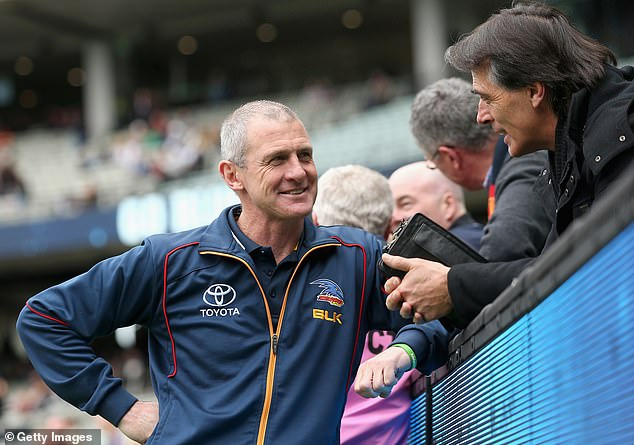 Adelaide Crows Phil Walsh speaks with fans in June 2015, a month before his shock death