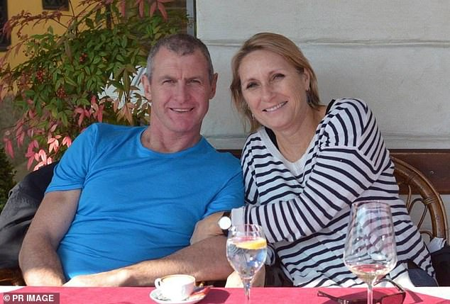 Meredith Walsh (pictured with her husband Phil before his death) will accompany her son on day trips into the community