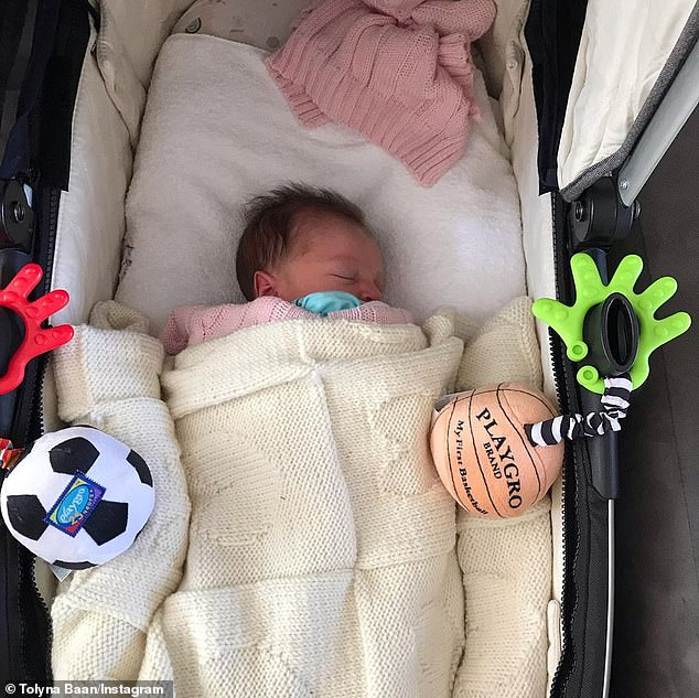 Cute: The couple named their adorable baby girl Ariysa, according to a Facebook post from Box Hill United football club congratulating the new parents
