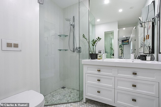 Upscale: The stunning apartment features a glamorous, well appointed bathroom