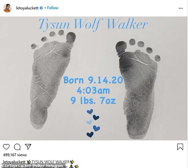 New arrival: She was a founding member of Destiny's Child. And on Monday, LeToya Luckett announced via social media that she has given birth to her second child