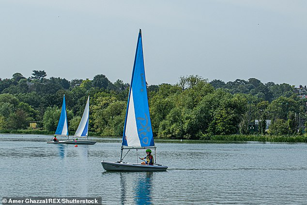 Other physical activities that can be done in with five or more others include sailing
