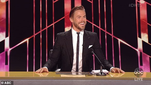 New judge:'And we want to welcome our new judge, six-time mirror ball champion, Derek Hough, announced Tyra, before inquiring about the 35-year-old pro dancer's excitement towards his new gig
