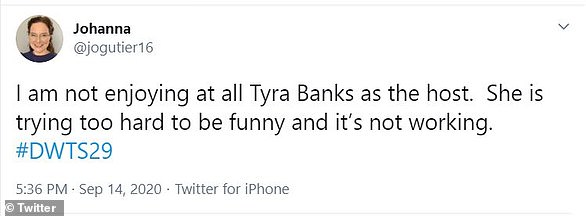 Nope:One fan said that Tyra was 'trying too hard to be funny' and that her attempts at humor were 'not working'