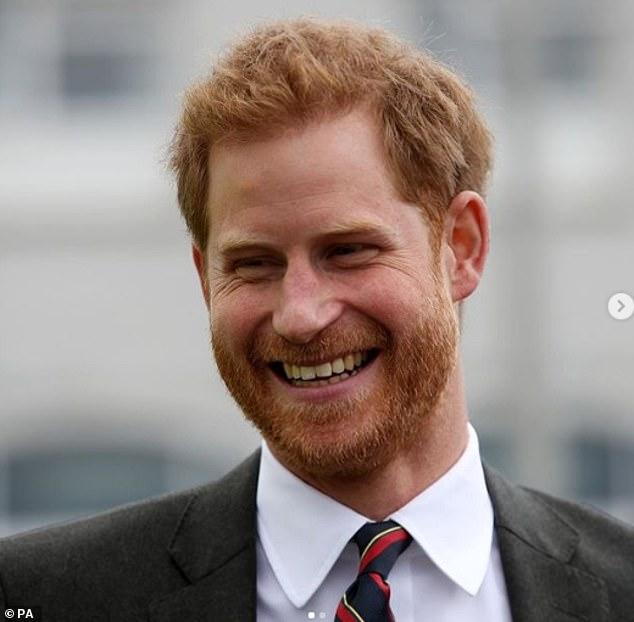 Prince Charles also shared this snap of his son beaming at a royal engagement