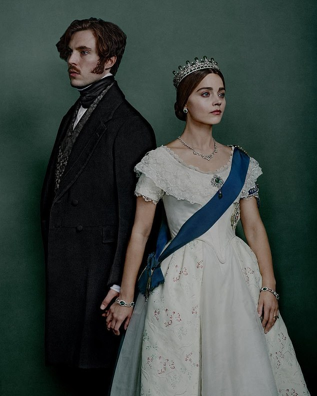 Exes: The actress and her Victoria co-star fell in love on set while playing the lead roles of Queen Victoria and Prince Albert in the ITV period costume drama