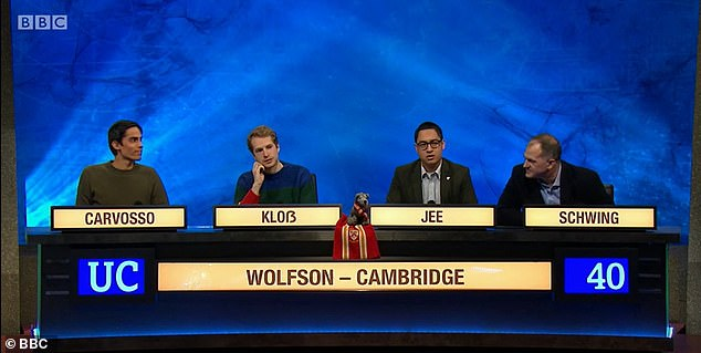 University Challenge viewers were left groaning with despair as they watched Oxford's Merton College trounce Wolfson College Cambridge in last night's match-up.