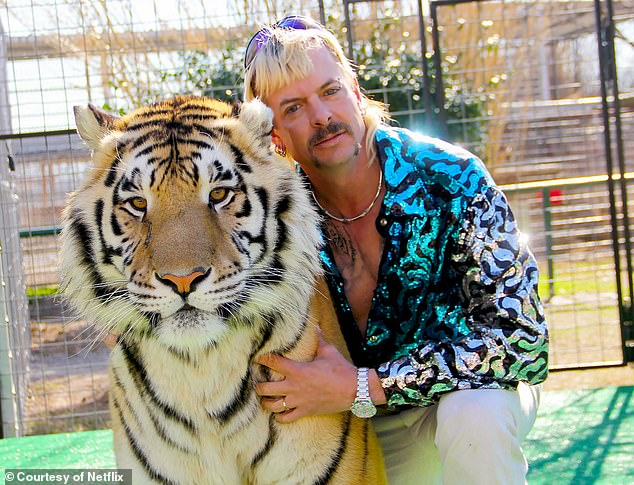 Baskin is the rival of Tiger King star Joe Exotic who shot to global fame this year on Netflix. A federal judge in June granted control of the Oklahoma zoo that was previously run by Maldonado-Passage - also known as Joe Exotic - to Baskin's Big Cat Rescue Corp