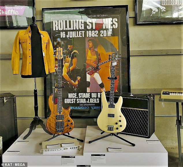 Memorabilia: More than 1,000 items from the rocker's archive went under the hammer, including musical instruments, amplifiers, stage-worn ensembles, awards and personal items